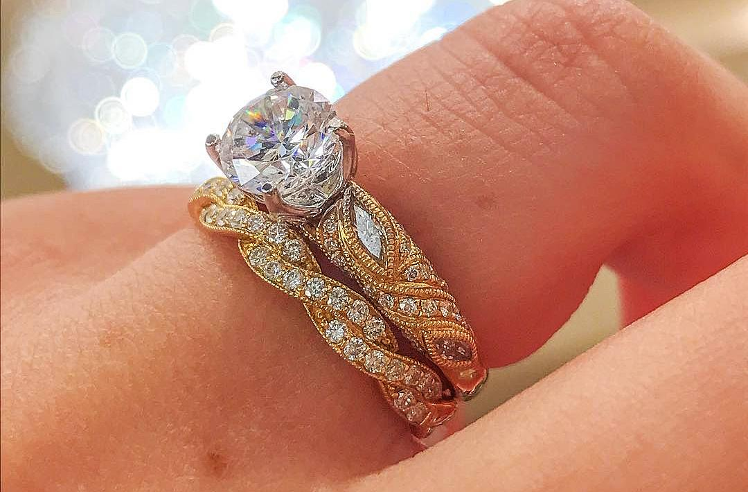 Diamond Wedding Rings In Yellow Gold