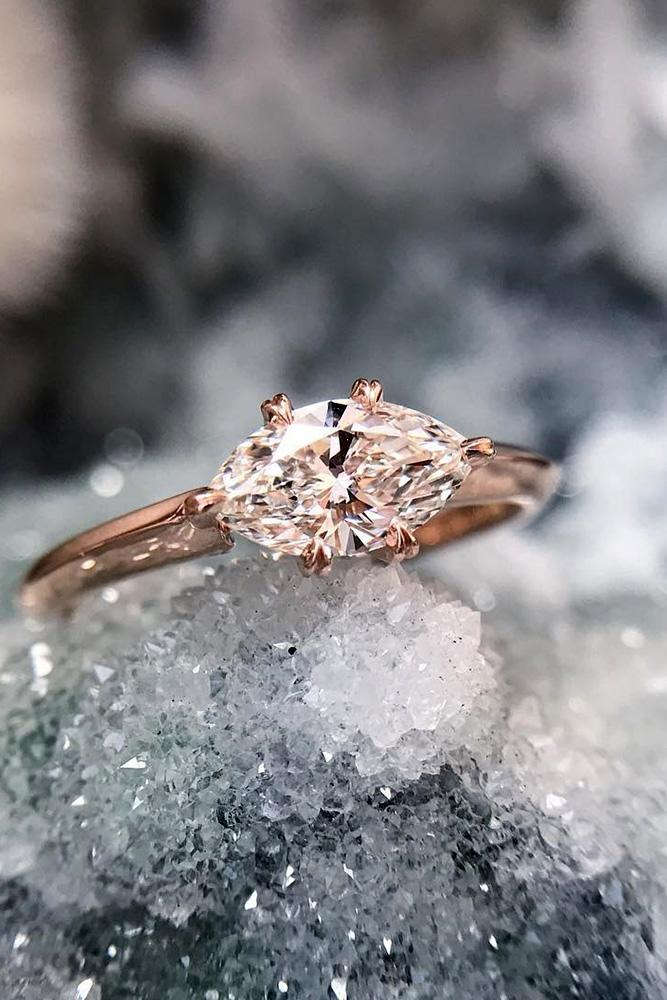 bestengagement rings marquise cut engagement rings solitaire engagement rings rose gold engagement rings