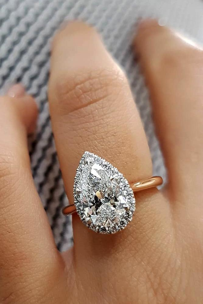 best engagement rings rose gold engagement rings pear shaped engagement rings diamond engagement rings halo rings