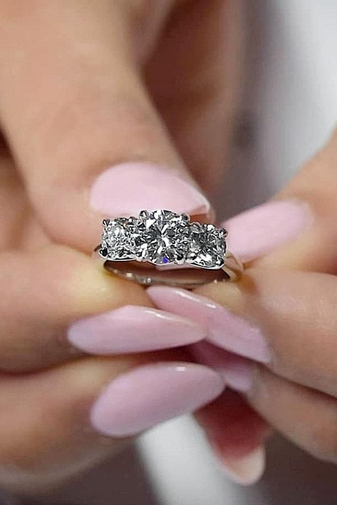 best engagement rings white gold engagement rings three stone rings classic rings