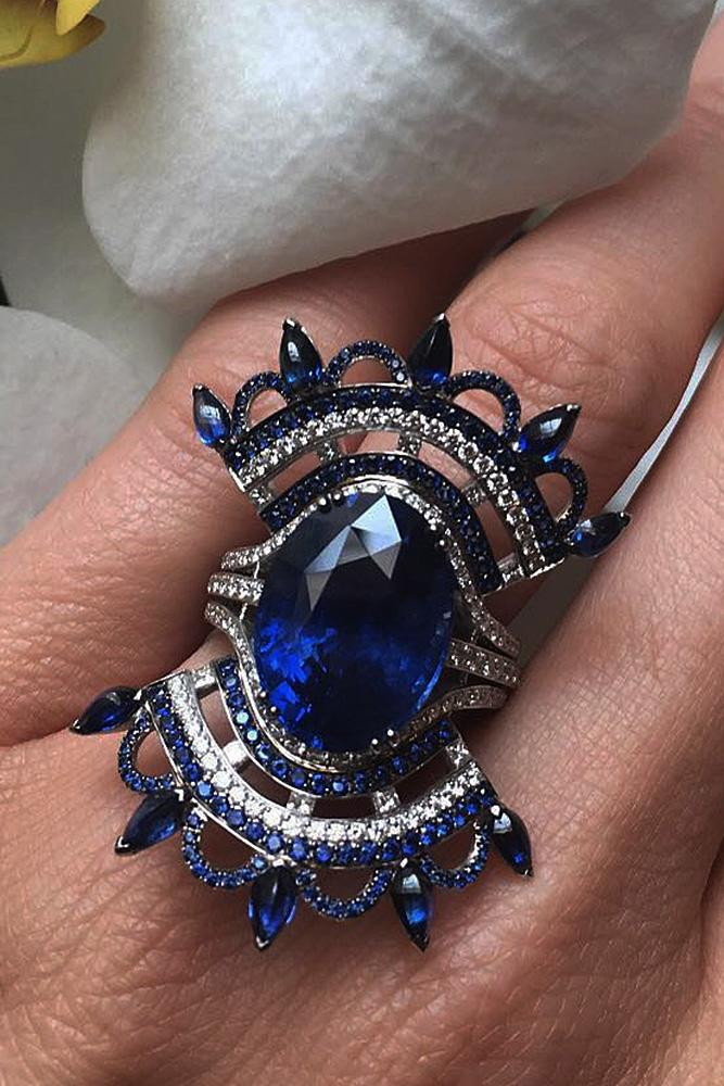 best sapphires designers unique modern gold