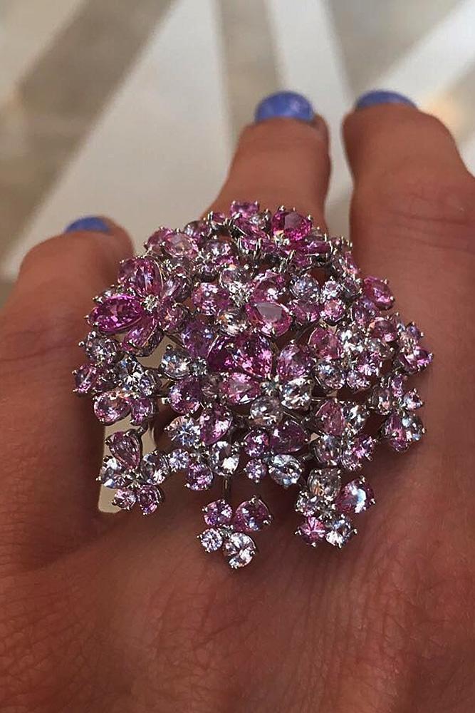 best sapphires designers unique modern pink sapphires