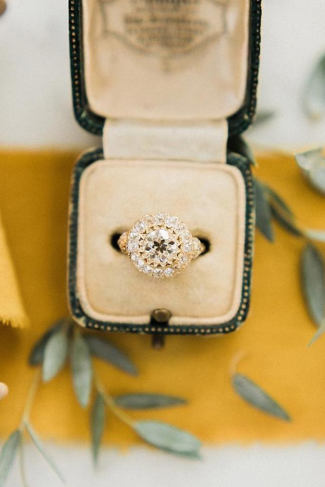 best vintage engagement rings rose gold diamond
