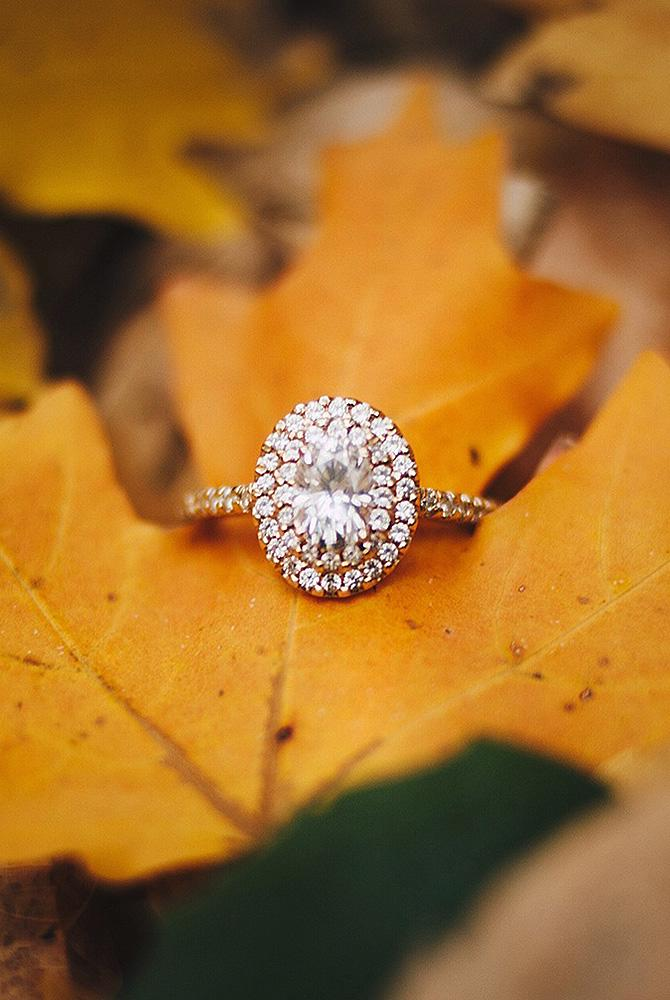 moissanite engagement rings halo oval pave band rose gold