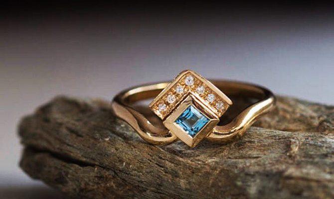 rose gold unique engagement rings gemstone princess cut puerlla_en featured