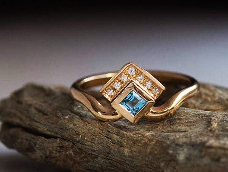 rose gold unique engagement rings gemstone princess cut puerlla_en featured