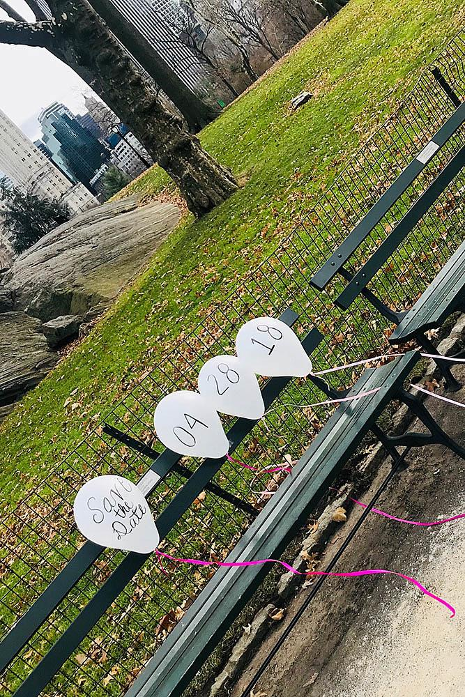 save the proposal date balloons park unique