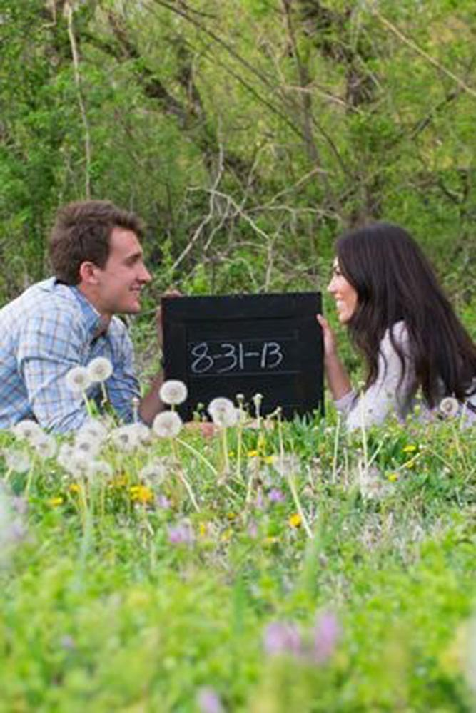 save the proposal date engaged couple