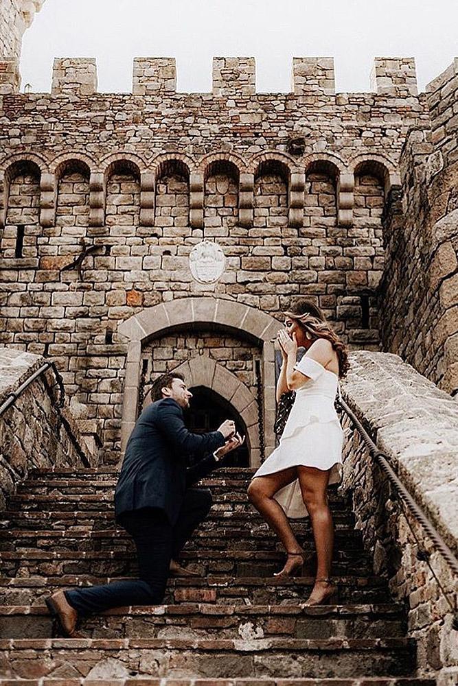 unique proposal ideas man propose woman castle romantic