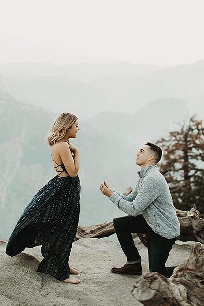 unique proposal ideas man woman engagement nature
