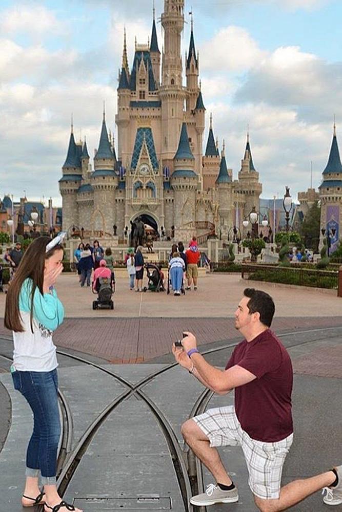Disney proposal ideas couple castle