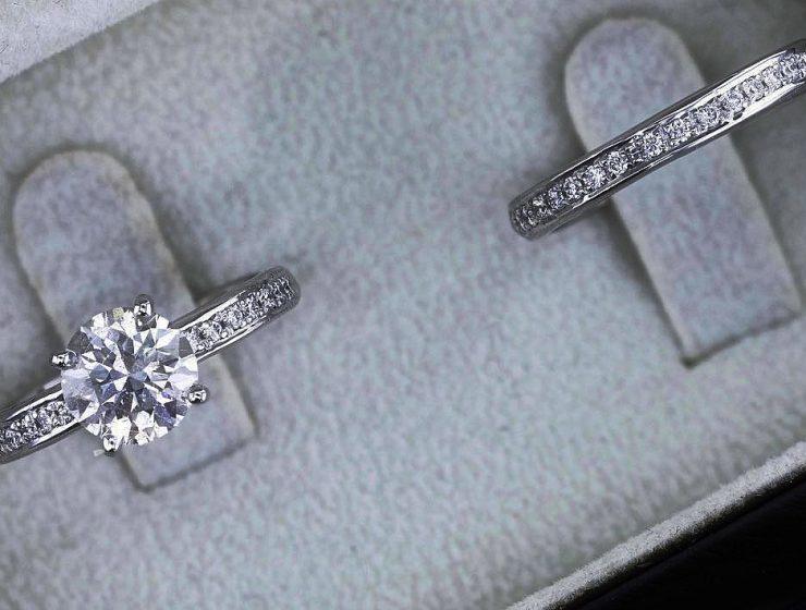 best brilliance wedding ring sets round cut diamond white gold featured