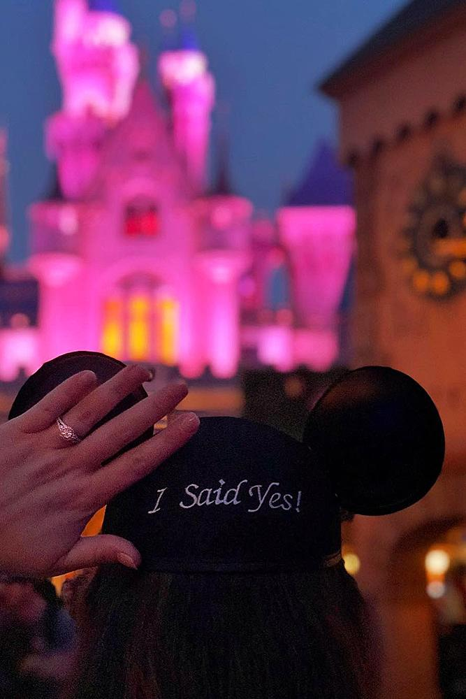 disney proposal ideas engaged photo ring ears