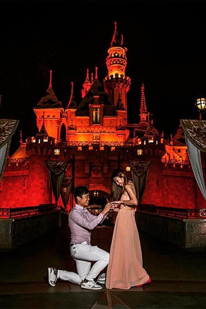 disney proposal ideas nighttime magic kingdom disney proposal ideas near red coloured disney castle
