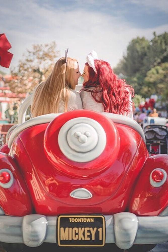 same sex proposals girls disney engagement photo
