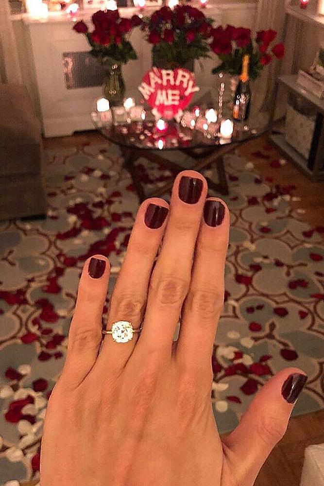Valentines Day Proposal Engagement Ring Hand