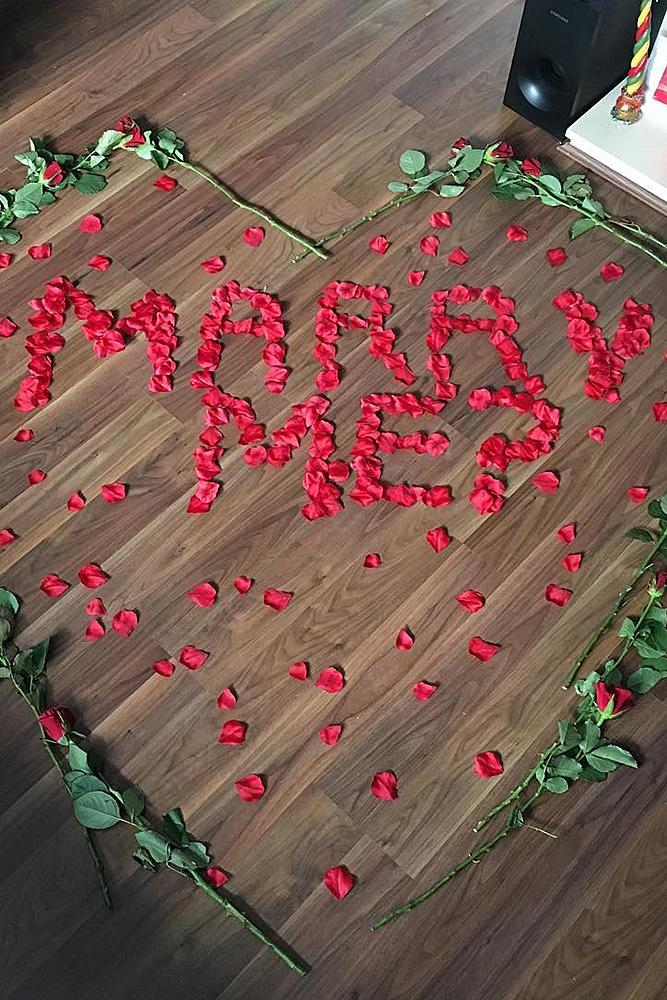 valentines day proposal roses proposal