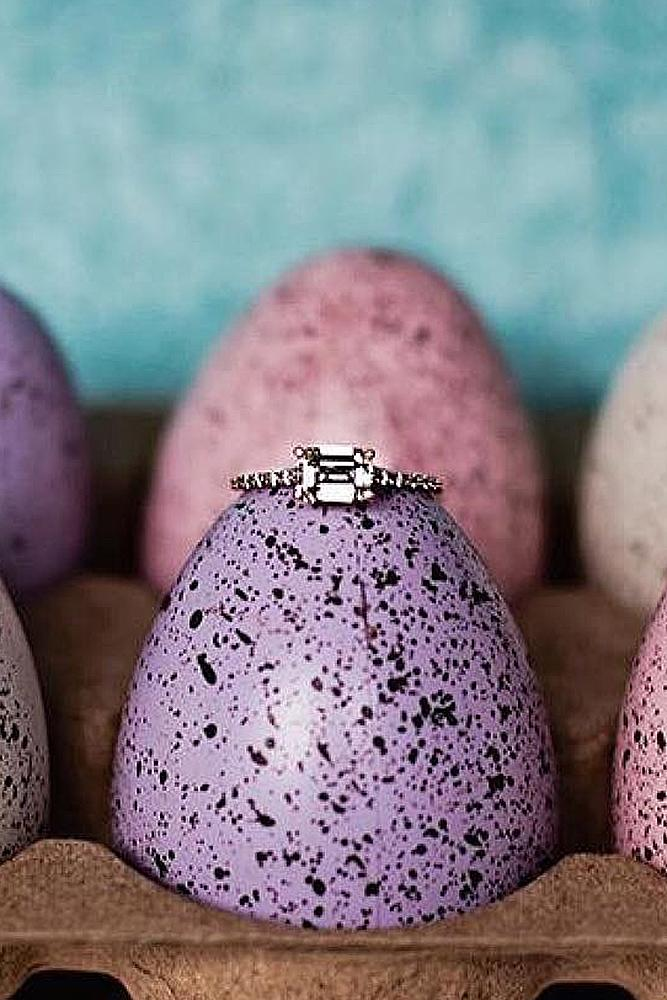 easter proposal ideas eggs engagement rings surprise