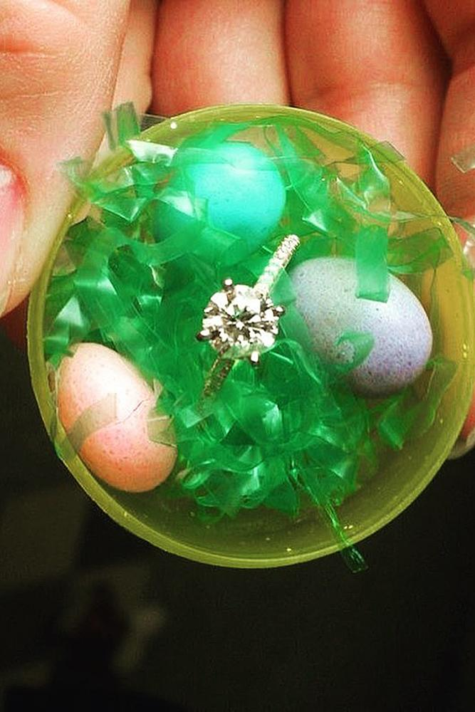 easter proposal ideas engagement ring toy egg surprise