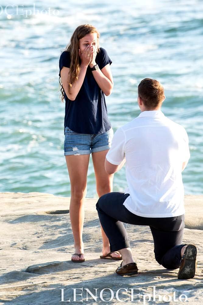 best beach proposal astonishing emotional reaction