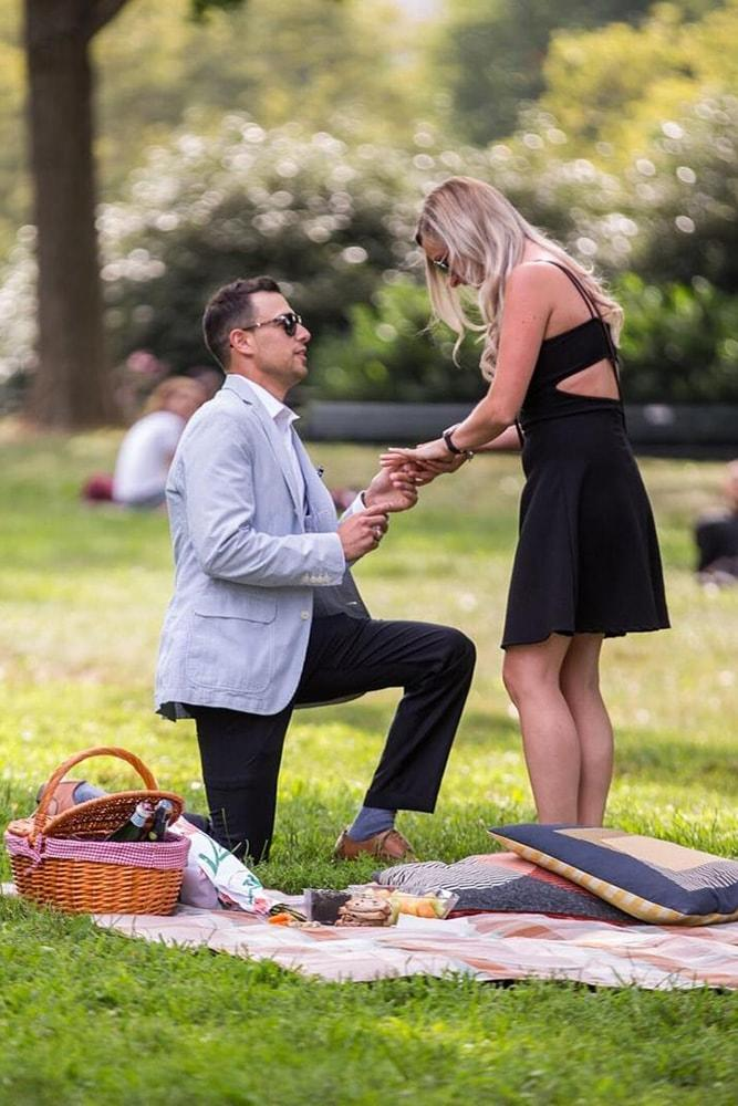 summer proposal ideas romantic proposal during picnic in the park she wondered lizieanne