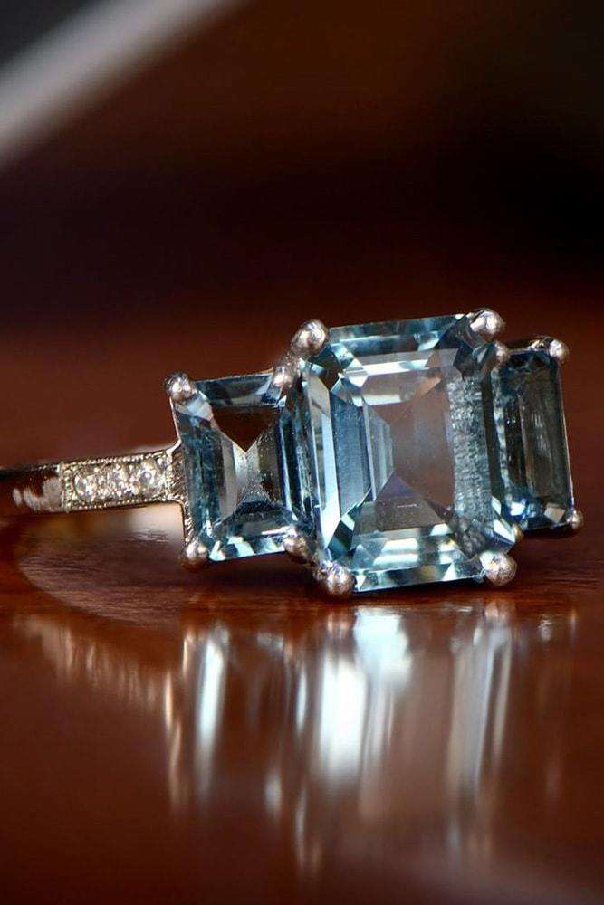 27 Aquamarine Engagement Rings For Romantic Girls Oh So