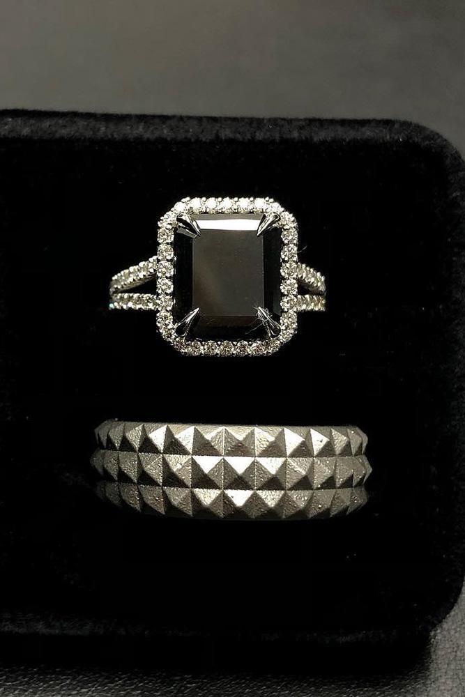black diamond engagement rings halo engagement rings white gold engagement rings ring boxes