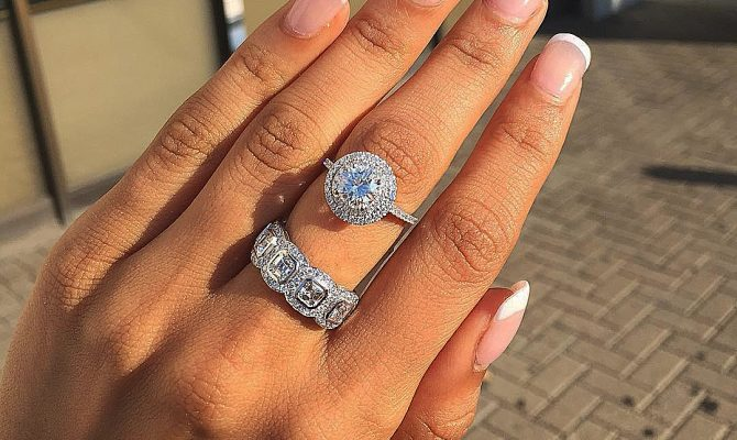 bridal sets halo diamonds pave band