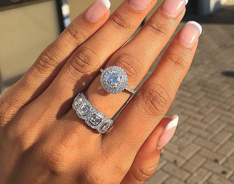 bridal sets halo diamonds pave band