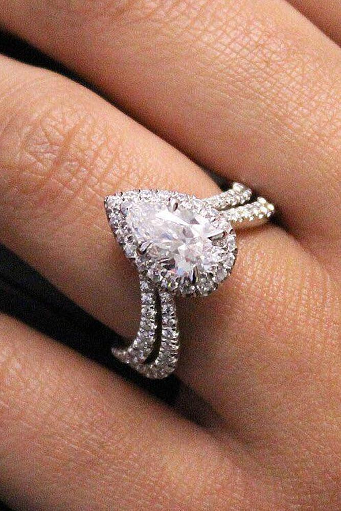 bridal sets pear shaped diamond pave band wonderful