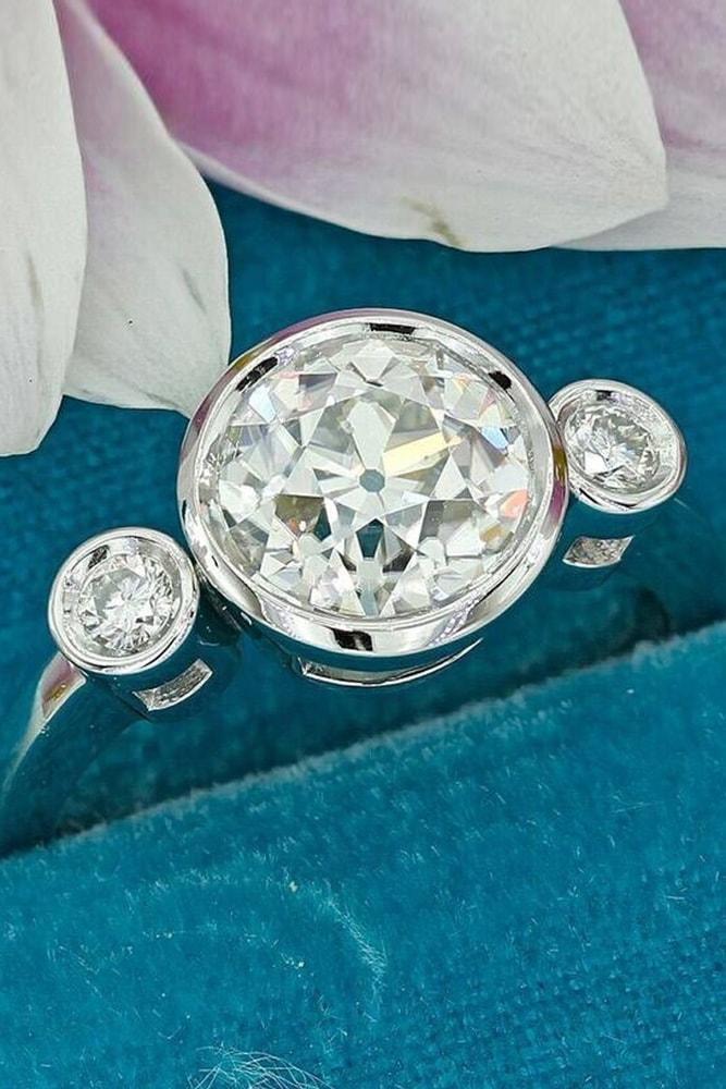 custom engagement rings white gold engagement rings custom rings round engagement rings three stone ring