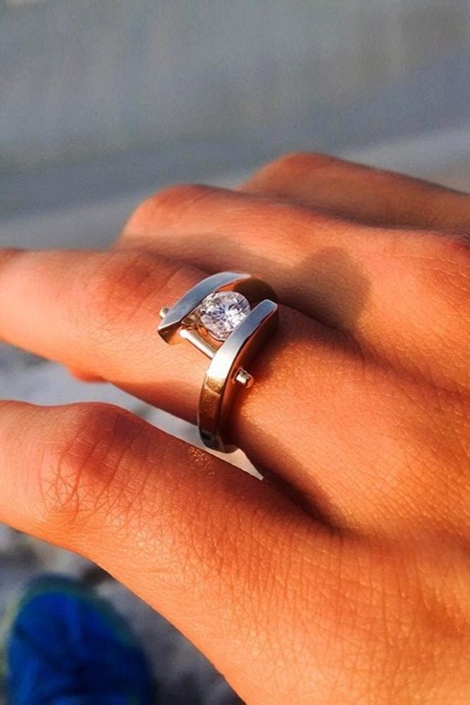 custom engagement rings white gold engagement rings round rings unique engagement rings