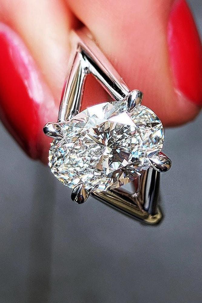 custom engagement rings white gold engagement rings split shank custom rings oval engagement rings