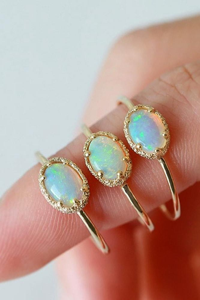 opal engagement rings rose gold beautiful oval cut opal rings simple