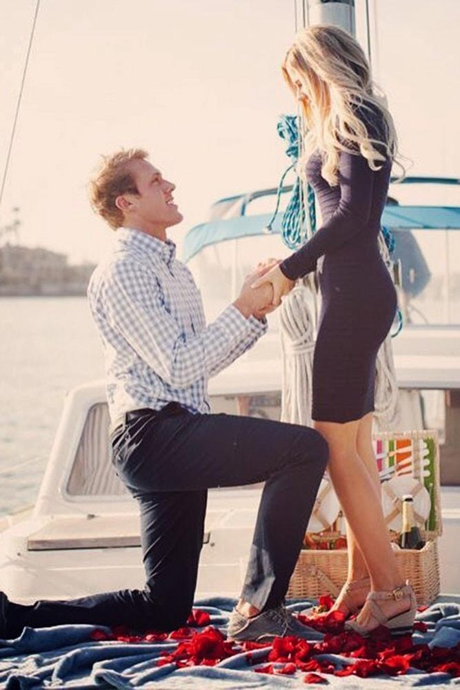 proposals fairy tale proposal on the yacht beautiful sunset