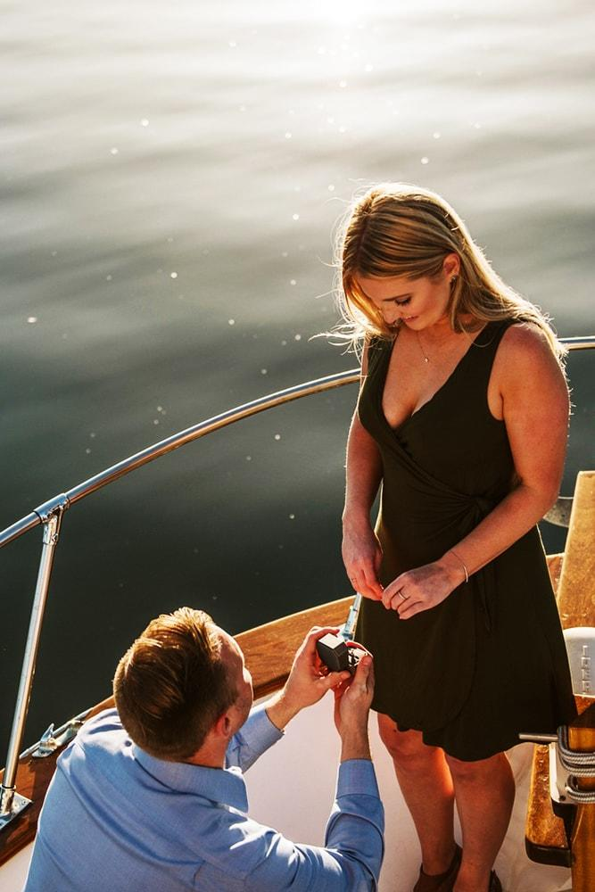 proposals fairy tale proposal on the yacht romantic