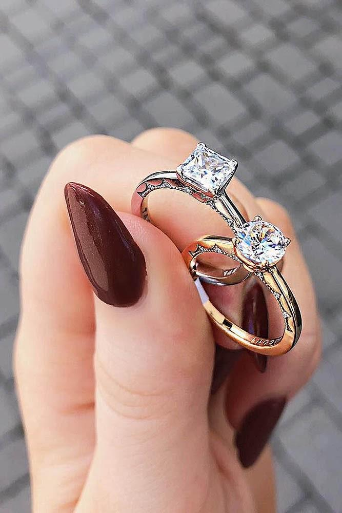 rose gold solitaire ring simple engagement rings diamond rings beautiful engagement rings classic engagement rings