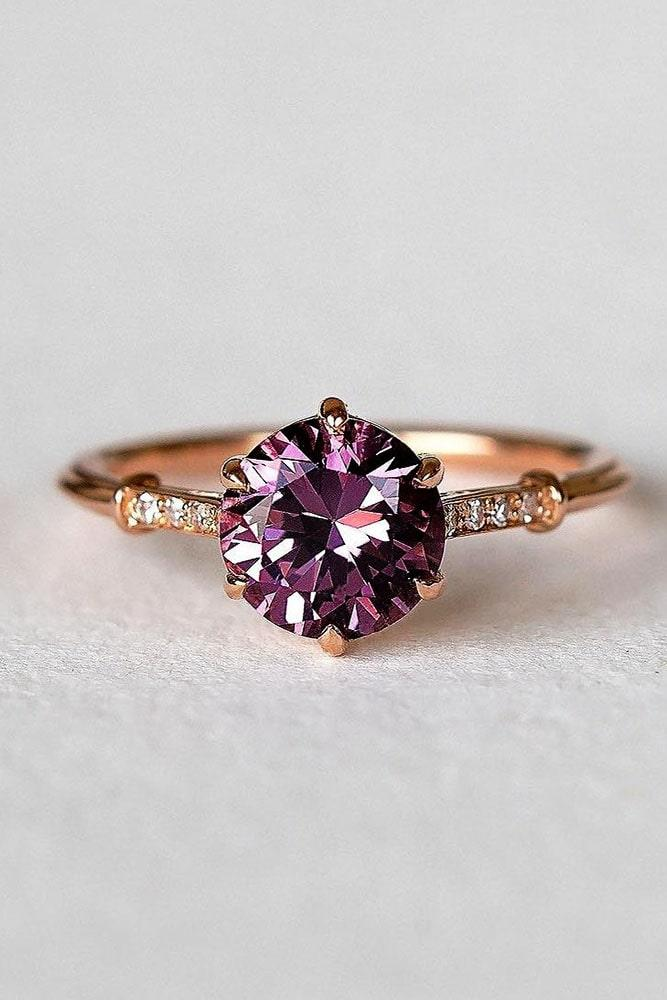 rose gold solitaire ring simple engagement rings diamond rings beautiful engagement rings colored gemstones engagement rings