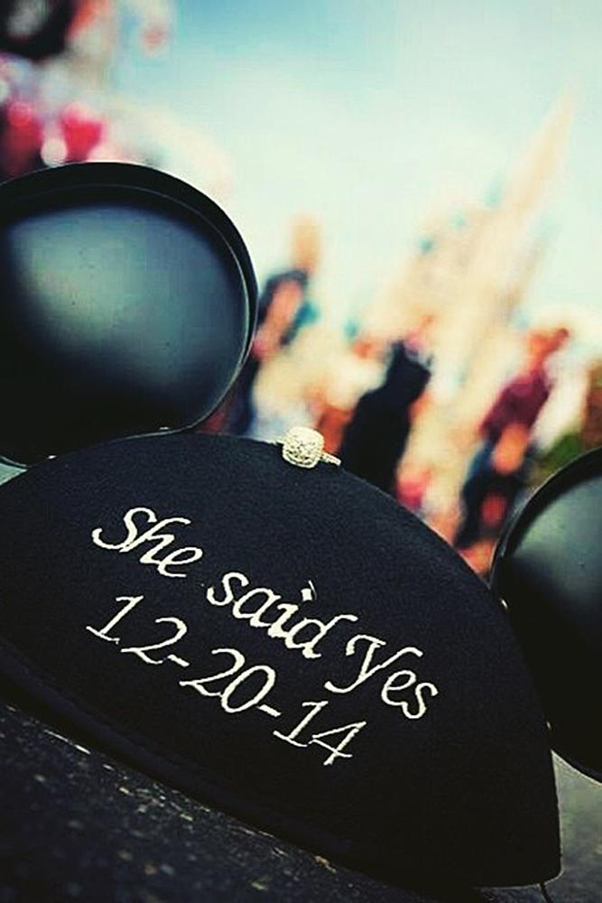 save the date ideas in disneyland style cute baseball cap with mickey mouse ears