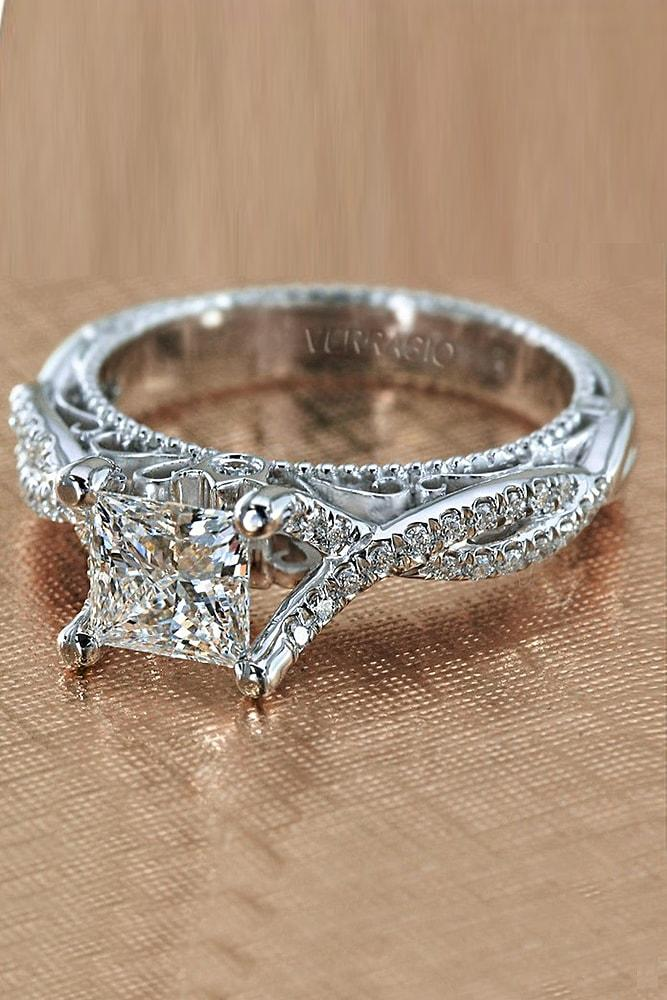 verragio engagement rings white gold princess cut diamond solitaire twisted band