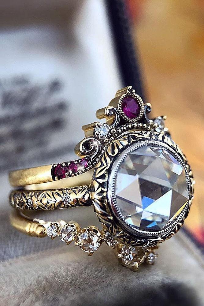 vintage engagement rings unique engagement rings white gold engagement rings gemstone rings rings