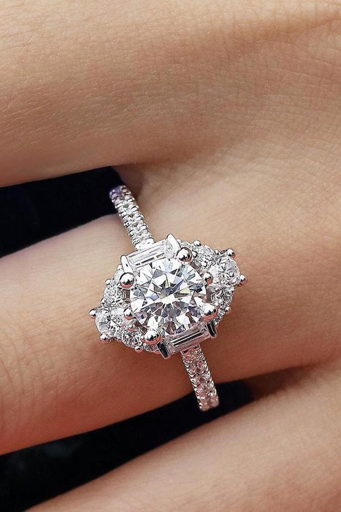 36 White Gold Engagement Rings To Conquer Your Love Oh