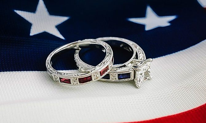 4 july proposal decoration perfect proposal ideas engagement rings on usa flag kirkkara featured