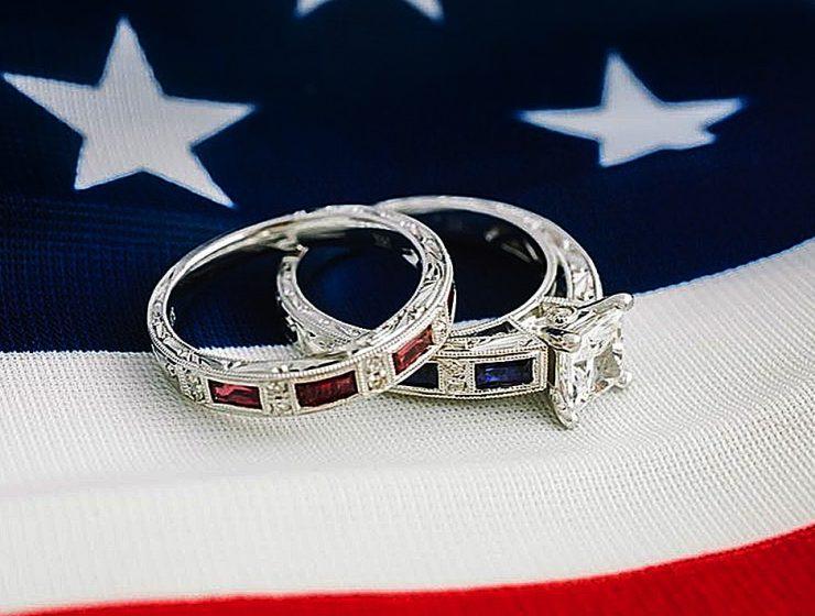 4 july proposal decoration perfect proposal ideas engagement rings on usa flag kirkkara featured