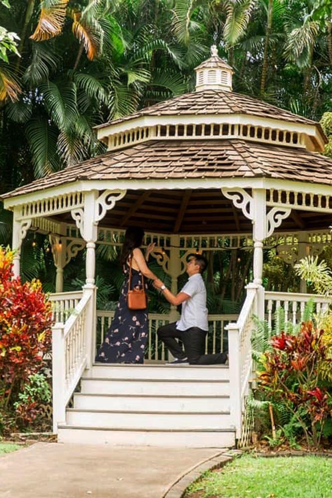 best proposals romantic proposals in gazebo cute idea