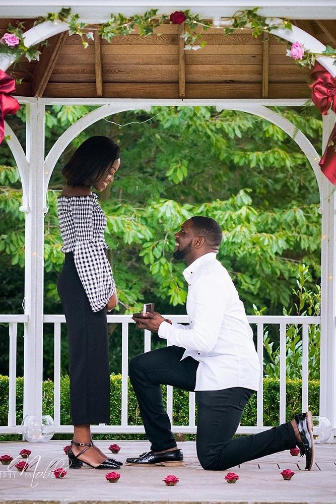 best proposals romantic proposals in gazebo with flowers