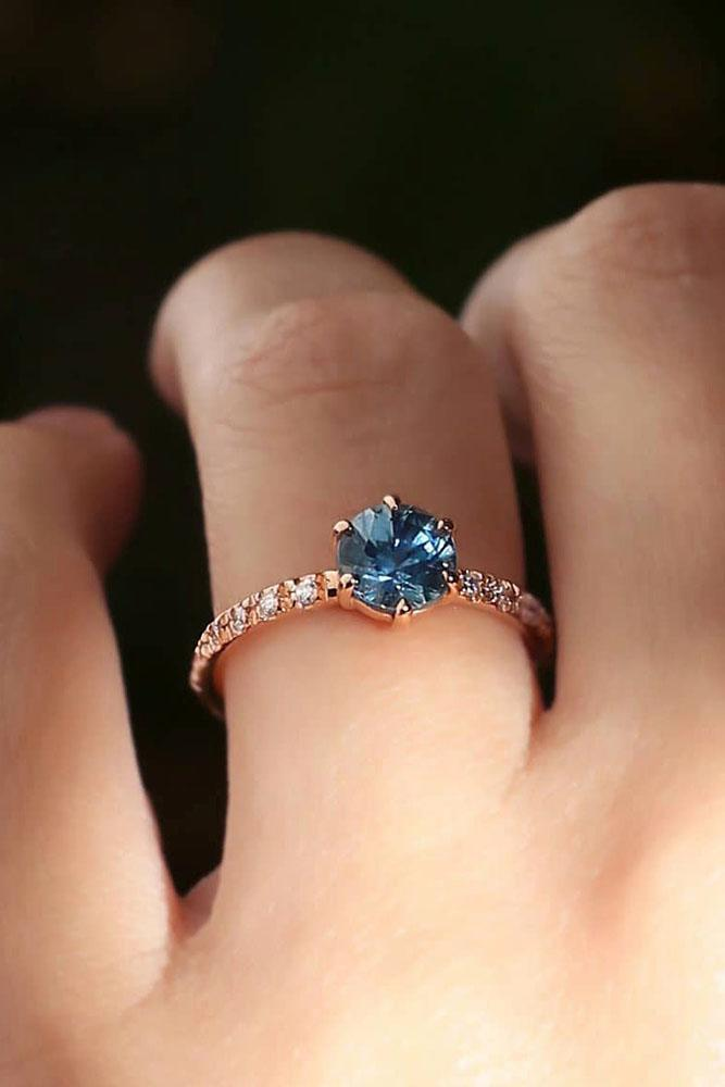 colored engagement rings round engagement rings rose gold engagement rings gemstone engagement rings sapphire rings