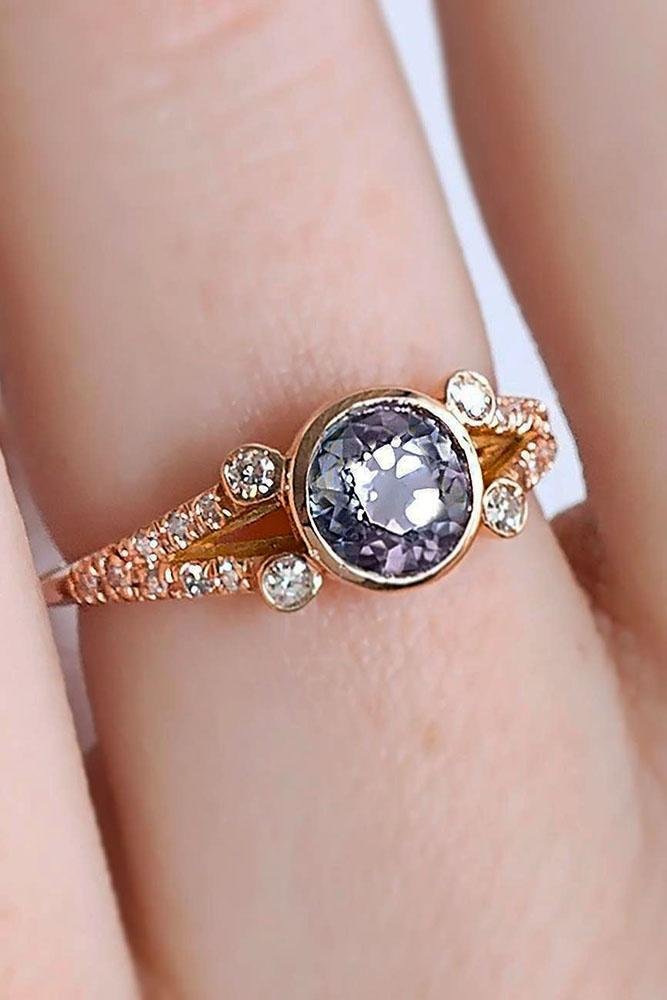 colored engagement rings round engagement rings rose gold engagement rings gemstone engagement rings