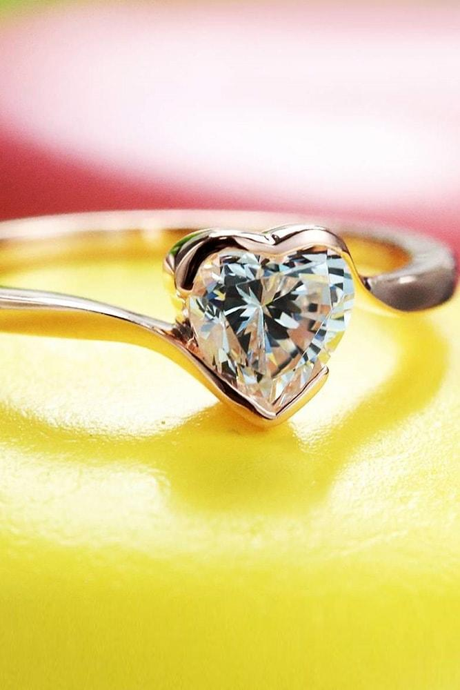 cubic zirconia engagement rings gold engagement rings heart rings white gold engagement rings heart cubic zirconia rings