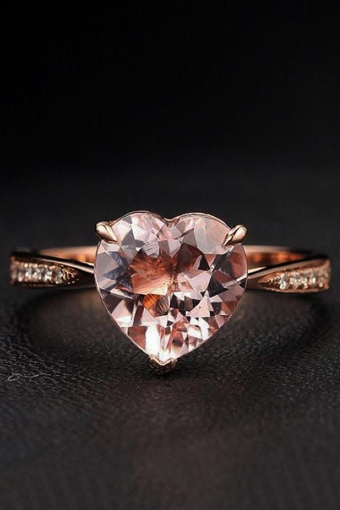 cubic zirconia engagement rings heart engagement rings rose gold engagement rings beautiful engagement rings proposal rings